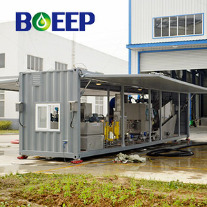 Mobile Portable Wastewater Treatment Plant for Membrane Sludge Dehydration