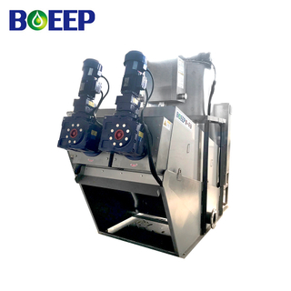 Vehicle Volute Extruder Sludge Dewatering Device for Urban Sewage Treatment